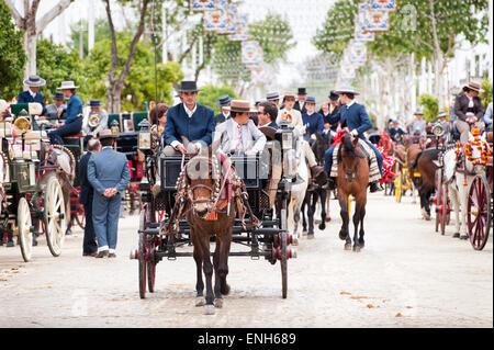 Seville April Fair, Spain - Stock Photo