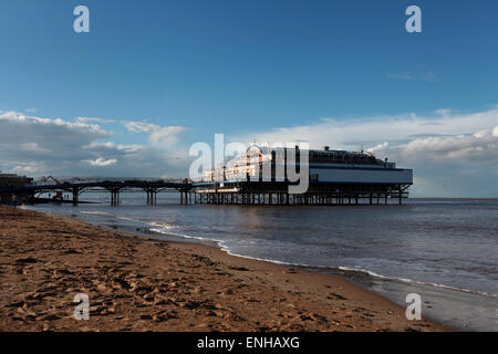 Cleethorpes Pier at Cleethorpes beach near Grimsby - Stock Photo