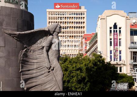 War Memorial on Plaza de Espana square, Santa Cruz de Tenerife, Tenerife, Canary Islands, Spain, Europe - Stock Photo