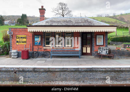 Carrog Railway Station North Wales part of the Llangollen Railway Society preservation railway - Stock Photo