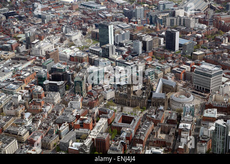 aerial view of Manchester city centre, UK - Stock Photo