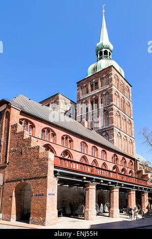 Image of St Nikolai church in Stralsund Germany - Stock Photo
