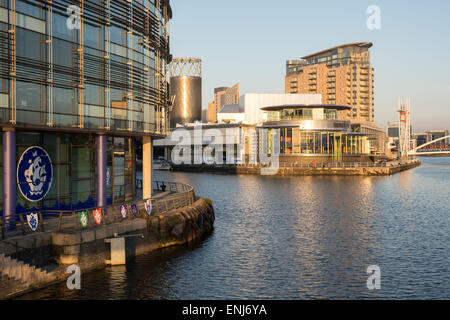 Media City at Salford Quays, Manchester Ship Canal - Stock Photo