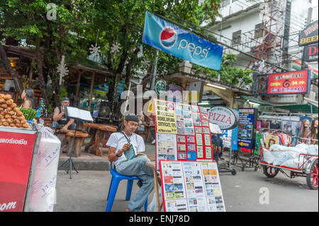 Fake ID market stall. Khao San Road. Bangkok. Thailand. - Stock Photo