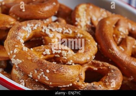 Artisan hard pretzels from Pennsylvania, USA - Stock Photo