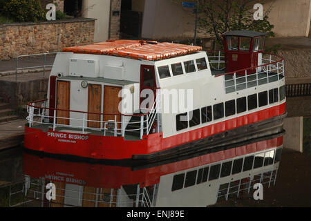 Prince Bishop pleasure boat on the River Wear Durham City Centre - Stock Photo