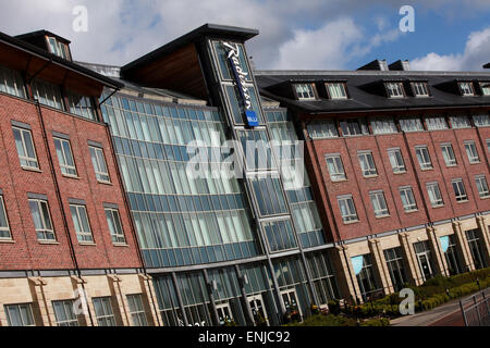 Radisson Blu Hotel Durham exterior Durham city centre - Stock Photo