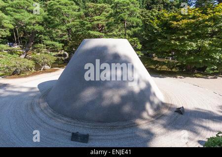 Ginkaku-ji Temple Kogetsudai Sand Mound - Stock Photo
