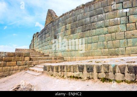 Ingapirca, Inca wall and town, largest known Inca ruins in Ecuador - Stock Photo