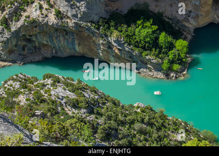 Boats in the Gorges du Verdon France - Stock Photo
