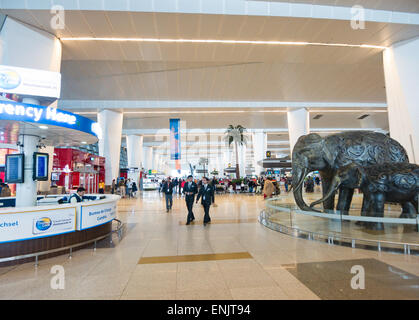 Indira Gandhi International airport in Delhi India - Stock Photo