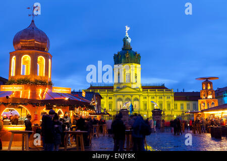 Christmas Market in front of Charlottenburg Palace, Berlin, Germany, Europe - Stock Photo
