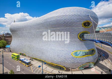 Selfridges department store with buses outside, Birmingham Bull Ring, Birmingham, West Midlands, England, United - Stock Photo