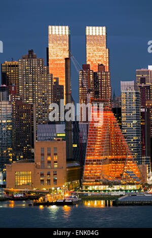 Midtown Manhattan across the Hudson River, New York, United States of America, North America - Stock Photo