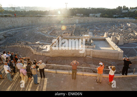 Model of Jerusalem in the late second temple period, Israel Museum, Jerusalem, Israel, Middle East - Stock Photo