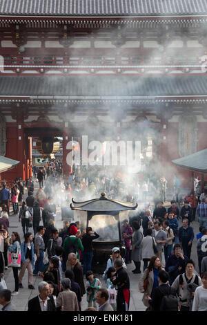 Senso-ji, ancient Buddhist temple, Asakusa, Tokyo, Japan, Asia - Stock Photo