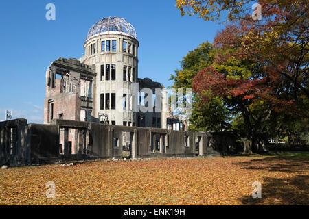 Atomic Bomb Dome, UNESCO World Heritage Site, Hiroshima, Western Honshu, Japan, Asia - Stock Photo