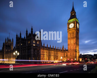 Big Ben, Houses of Parliament, UNESCO World Heritage Site, Westminster, London, England, United Kingdom, Europe - Stock Photo