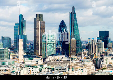 City of London skyline, London, England, United Kingdom, Europe - Stock Photo