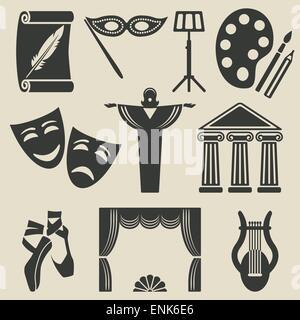 art theater icons set - vector illustration. eps 8 - Stock Photo