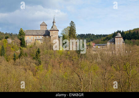 Schnellenberg Castle, Attendorn, Sauerland, North Rhine-Westfalia, Germany - Stock Photo