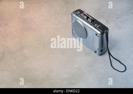 Vintage analog micro cassette tape recorder (Dictaphone) - Stock Photo