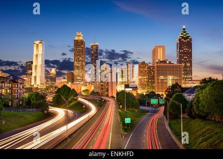 Atlanta, Georgia, USA downtown skyline. - Stock Photo