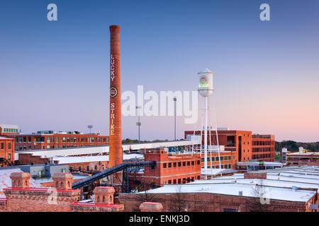 Durham, North Carolina, USA at The American Tobacco Historic District. - Stock Photo