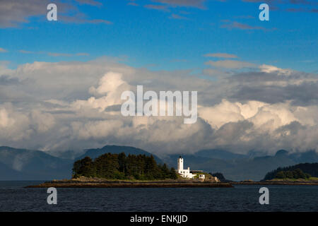 Five Fingers Lighthouse. Frederick Sound. Stephen's Passage.  Petersberg Alaska. Spend the day exploring in Frederick - Stock Photo