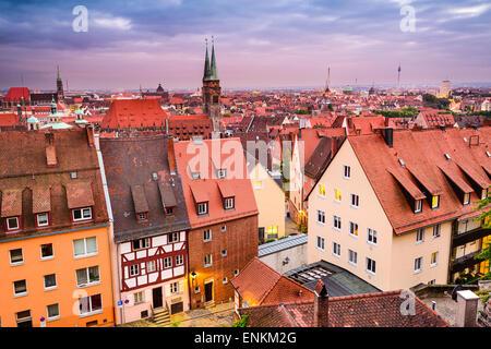 Nuremberg, Germany old town skyline. - Stock Photo