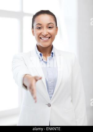 businesswoman ready for handshake - Stock Photo