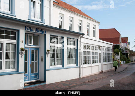 house, Norderney, North Sea island, Ostfriesland, Lower Saxony, Germany - Stock Photo