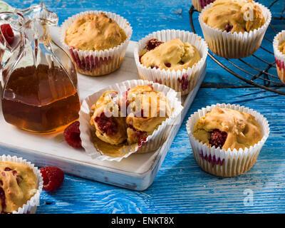 Berry cornbread muffins - Stock Photo