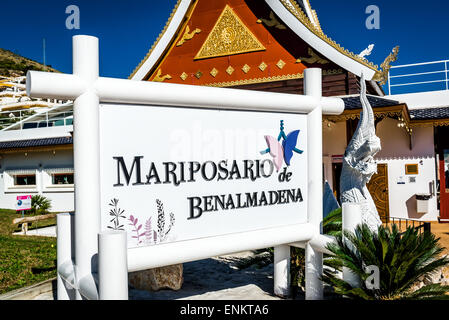 Butterfly Park in Benalmadena - Stock Photo