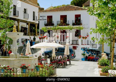Mijas town near Malaga  Costa Del Sol Spain - Stock Photo