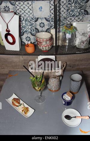 Prosecco cocktail in a buffet aperitif - Stock Photo