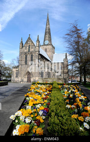 Darlington County Durham UK - The Church of St Cuthberts Building of the church began in and 1180 probably completed - Stock Photo