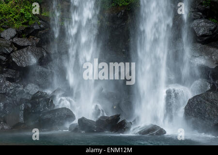 Jeongbang Falls, Jeju Island, South Korea - Stock Photo