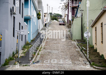 Street crossing in Bo Kaap, Cape Town, South Africa - Stock Photo