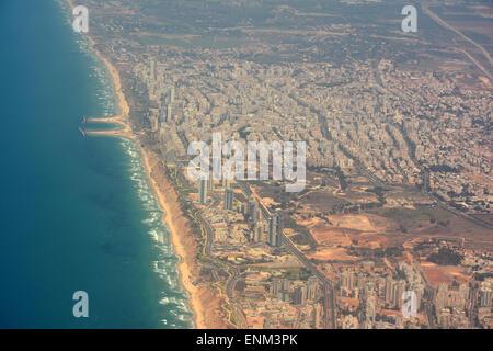 Netanya aerial  view, Israel - Stock Photo