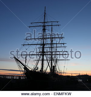 RRS Discovery Dundee Scotland  February 2015 - Stock Photo