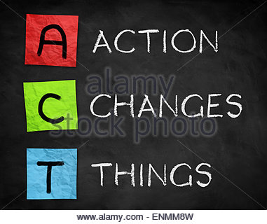 Action Changes Things - Stock Photo