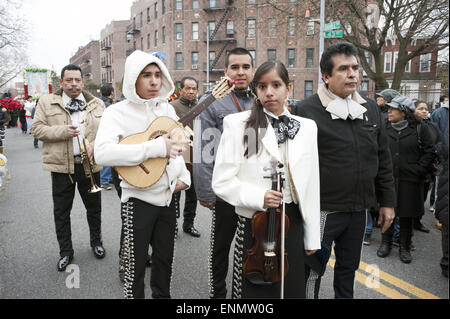 Mariachi band at the Festival of the Virgin of Guadalupe In Brooklyn, NY, 2012. - Stock Photo