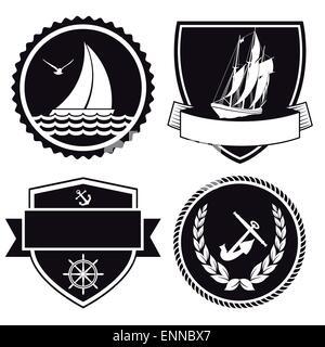 Nautical labels - Stock Photo