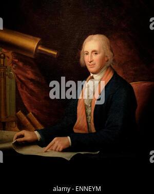 David Rittenhouse, circa 1796   Charles Wilson Peale - Stock Photo