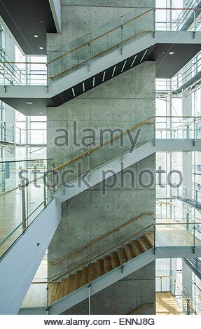 Interior of The National Art Center,Minato-Ku,Tokyo,Japan - Stock Photo