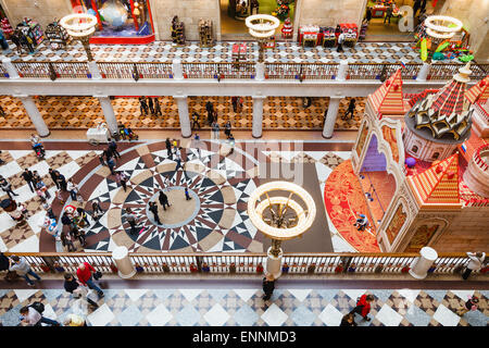 MOSCOW, RUSSIA - MAY 7, 2015: gallery of Central Children's Store on Lubyanka Square. The department store is the - Stock Photo