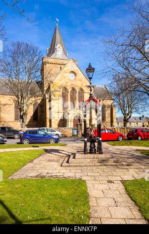 13th century Dornoch Cathedral, Sutherland, Highland, United Kingdom, Scotland, Europe. - Stock Photo