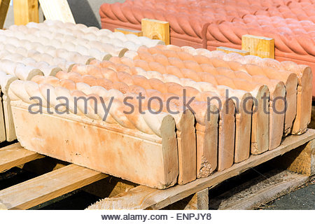 Ropetop edging paving slabs for sale, UK. - Stock Photo