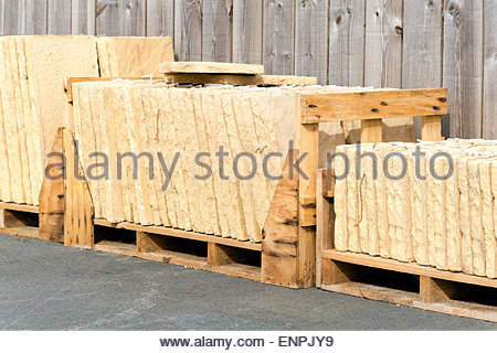 New paving slabs for sale, UK. - Stock Photo